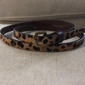Madewell Cheetah/Leopard Belt XS/S